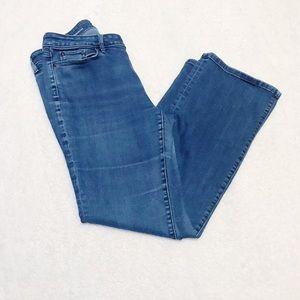 Ann Taylor Loft outlet curvy bootcut jeans 10P